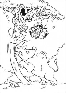 målarbok Rhino är arg