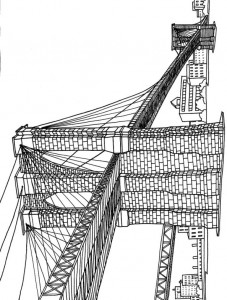 coloring page new-york-pont-brooklyn