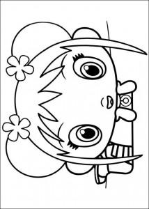 coloring page Ni hao Kai Lan