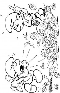 Niess Smurf coloring page