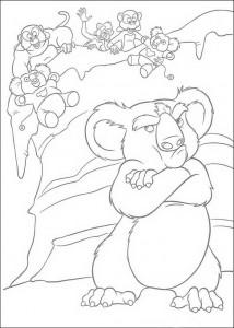 kleurplaat Nigel de koala