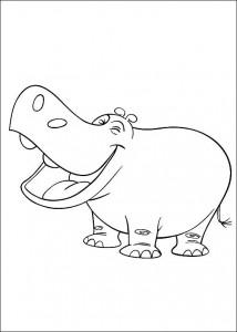 kleurplaat Nijlpaard