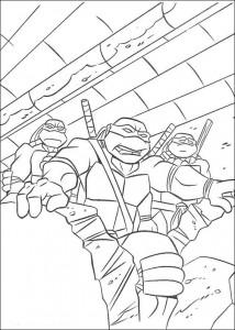 kleurplaat Ninja Turtles (12)