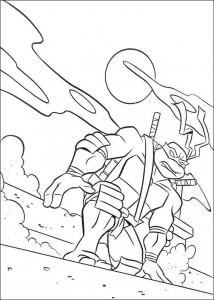 kleurplaat Ninja Turtles (17)