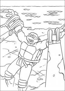 kleurplaat Ninja Turtles (18)