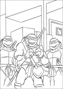 kleurplaat Ninja Turtles (19)