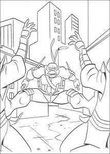 kleurplaat Ninja Turtles (22)