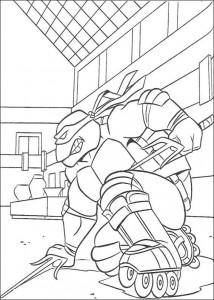 kleurplaat Ninja Turtles (28)
