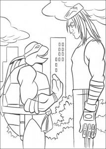 kleurplaat Ninja Turtles (38)