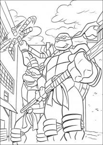 kleurplaat Ninja Turtles (44)
