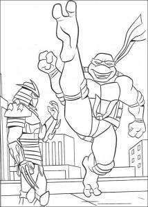 kleurplaat Ninja Turtles (46)