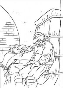 kleurplaat Ninja Turtles (52)