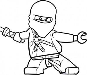 målarbok Ninjago krigare