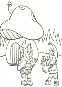 coloring page Noddy and Great Ear (2)