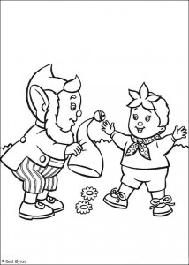 coloring page Noddy and Groot-Oor