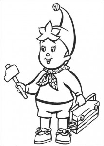 coloring page Noddy does odd jobs