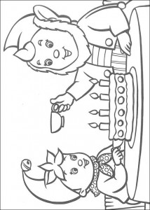 coloring page Noddy's birthday