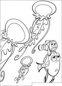 coloring page Even more jellyfish