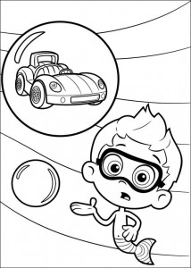 coloring page Nonny and racing car