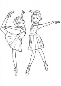 coloring page Nora and Dora