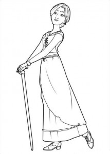 coloring page Odette