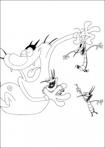 Coloring page Oggy and the cockroaches (12)