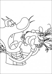 Coloring page Oggy and the cockroaches (37)