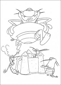 Coloring page Oggy and the cockroaches (38)