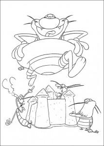 målarbok Oggy och kackerlackorna (38)