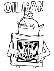 kleurplaat oilcan