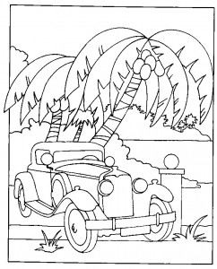 coloring page Oldtimer (2)