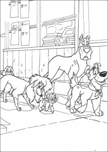 coloring page Oliver and Co (12)