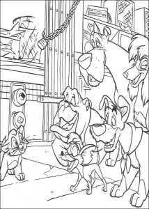 coloring page Oliver and Co (17)