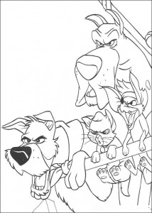 coloring page Oliver and Co (2)