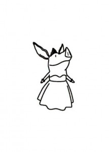 coloring page olivia dress
