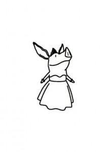 målarbok olivia klänning