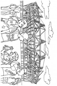olympic stadium coloring page