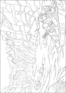 målarbok Flykt vid vattenfallet