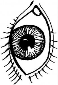 målarbok Ögon