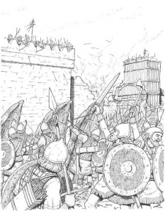 war coloring page