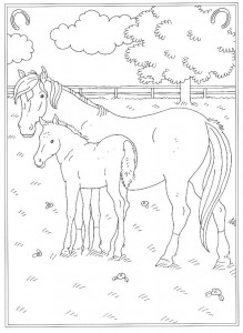 coloring page At the riding school (2)