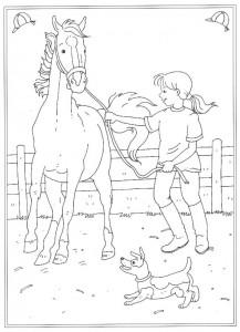 pagina da colorare Alla scuola di equitazione (3)