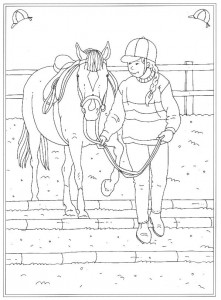 coloring page At the riding school