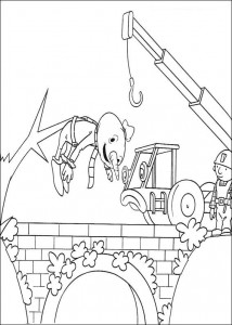 coloring page Hurry up Bob!