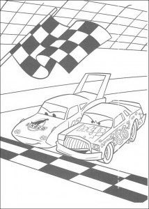 coloring page Over the finish