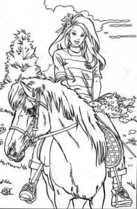 kleurplaat Paarden (10)