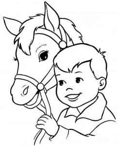 kleurplaat Paarden (11)