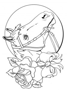 coloring page Horses (14)