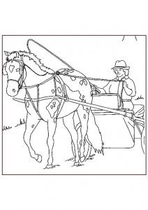 kleurplaat Paarden (23)