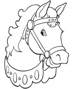 kleurplaat Paarden (7)